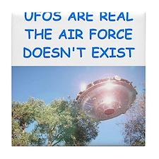 ufo joke Tile Coaster