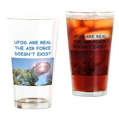 ufo joke Drinking Glass