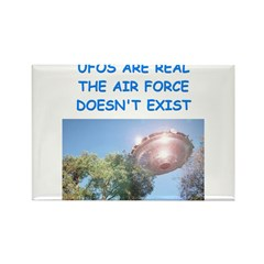 ufo joke Rectangle Magnet (10 pack)