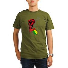 Cape Verde Hflag Hand Organic Men's T-Shirt