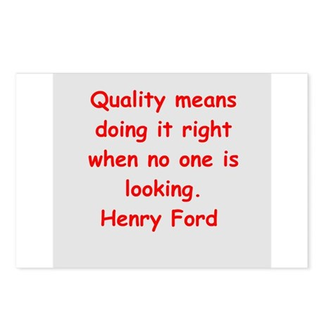 Henry Ford quotes Postcards (Package of 8)