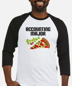 Accounting Major Fueled by Pizza Baseball Jersey
