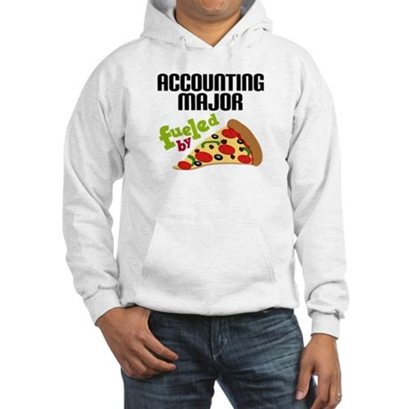 Accounting Major Fueled by Pizza Hooded Sweatshirt