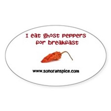 I Eat Ghost Peppers for Break Decal