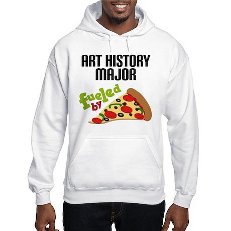 Art History Major Fueled by Pizza Hooded Sweatshir