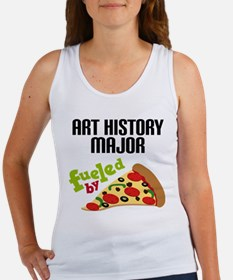 Art History Major Fueled by Pizza Women's Tank Top