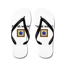 Funny Work from home Flip Flops