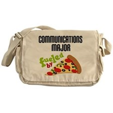 Communications Major Fueled by Pizza Messenger Bag