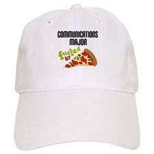 Communications Major Fueled by Pizza Baseball Cap