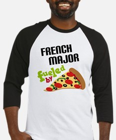 French Major Fueled by Pizza Baseball Jersey