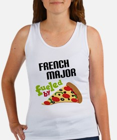French Major Fueled by Pizza Women's Tank Top