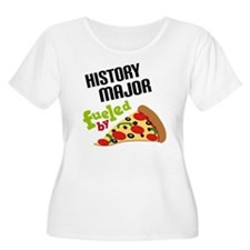 History Major Fueled by Pizza T-Shirt