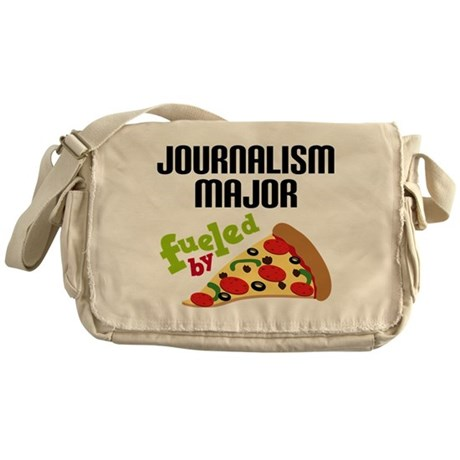 Journalism Major Fueled by Pizza Messenger Bag