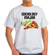 Sociology Major Fueled by Pizza T-Shirt