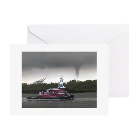 Tug & Funnel Greeting Cards (Pk of 10)