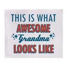 Awesome Grandma Design Throw Blanket