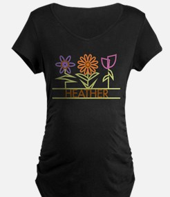 Heather with cute flowers T-Shirt