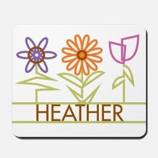 Heather with cute flowers Mousepad