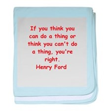 Henry Ford quotes baby blanket