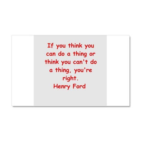 Henry Ford quotes Car Magnet 20 x 12