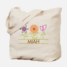 Miah with cute flowers Tote Bag