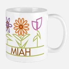 Miah with cute flowers Small Small Mug