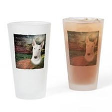 """""""Why God Made Dogs"""" Bull Terrier Drinking Glass"""