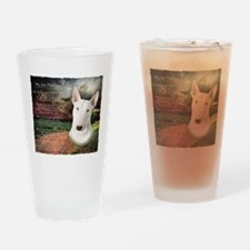 """Why God Made Dogs"" Bull Terrier Drinking Glass"
