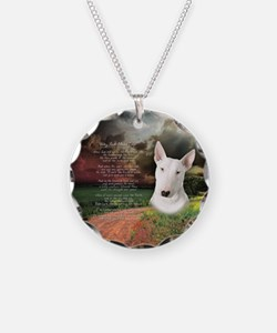 """Why God Made Dogs"" Bull Terrier Necklace"