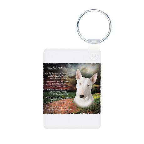"""""""Why God Made Dogs"""" Bull Terrier Aluminum Photo Ke"""