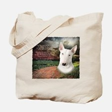 """Why God Made Dogs"" Bull Terrier Tote Bag"