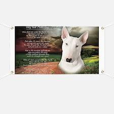 """""""Why God Made Dogs"""" Bull Terrier Banner"""