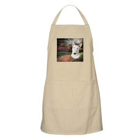 """""""Why God Made Dogs"""" Bull Terrier Apron"""