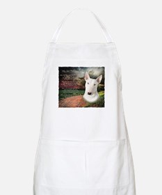 """Why God Made Dogs"" Bull Terrier Apron"