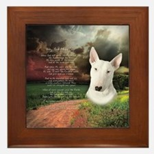 """Why God Made Dogs"" Bull Terrier Framed Tile"