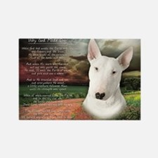 """Why God Made Dogs"" Bull Terrier Rectangle Magnet"
