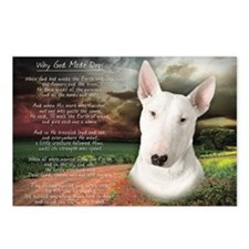"""""""Why God Made Dogs"""" Bull Terrier Postcards (Packag"""