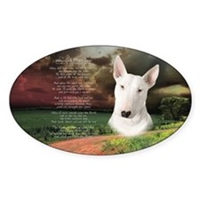 """Why God Made Dogs"" Bull Terrier Decal"