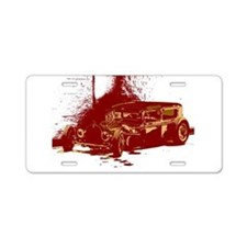 Rat Rod Red Aluminum License Plate