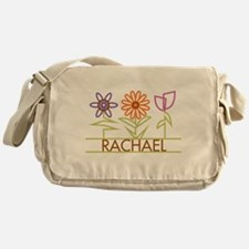 Rachael with cute flowers Messenger Bag