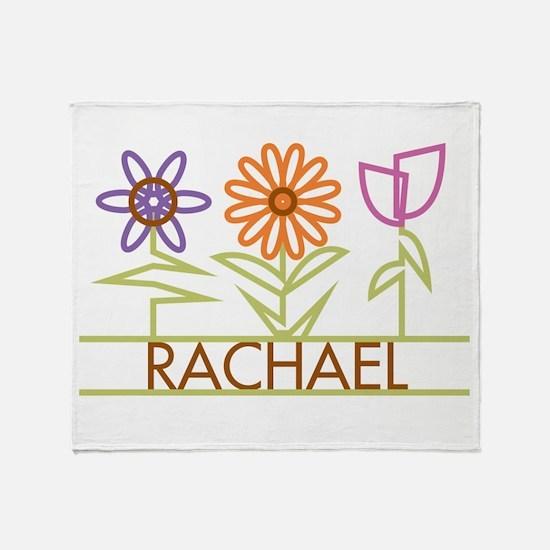 Rachael with cute flowers Throw Blanket