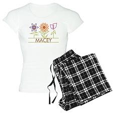 Macey with cute flowers pajamas