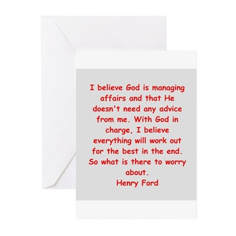 Henry Ford quotes Greeting Cards (Pk of 10)