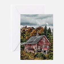 Farmhouse Woods Greeting Card