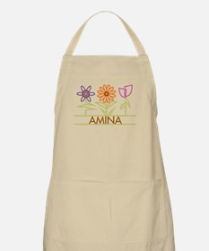 Amina with cute flowers Apron