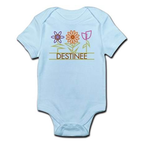 Destinee with cute flowers Infant Bodysuit