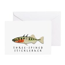 Three-spined stickleback Greeting Cards (Pk of 10)
