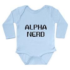 ALPHA NERD Long Sleeve Infant Bodysuit