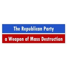 republican party... Bumper Bumper Sticker