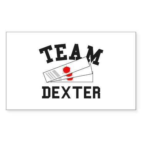 TEAM DEXTER Sticker (Rectangle)